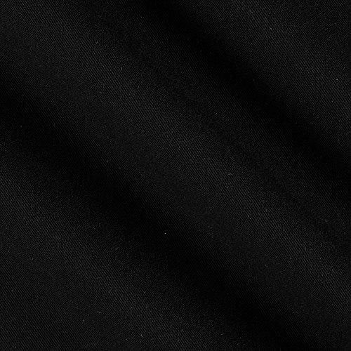 Black Stretch Gabardine - 1