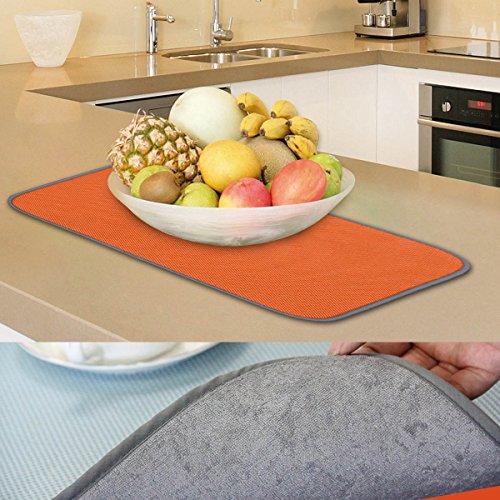 Jovilife Dish Drying Mat Kitchen Mat Set Of 2 Microfiber