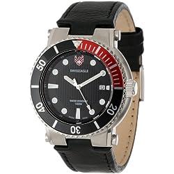 Swiss Eagle Men's SE 9016-01 Covert Black Dual Strap Watch
