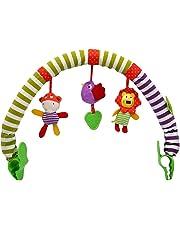 Cartoon Animal Baby Travel Play Arch Stroller Crib Pram Activity Bar Animal Plush Toy