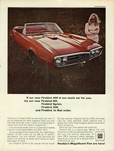 If our Firebird 400 is too much try HP Sprint 326 - Pontiac Firebird ad 1967 ()