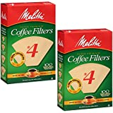 Melitta #4 Coffee Filters, Natural Brown, 100 count(Pack of 2)