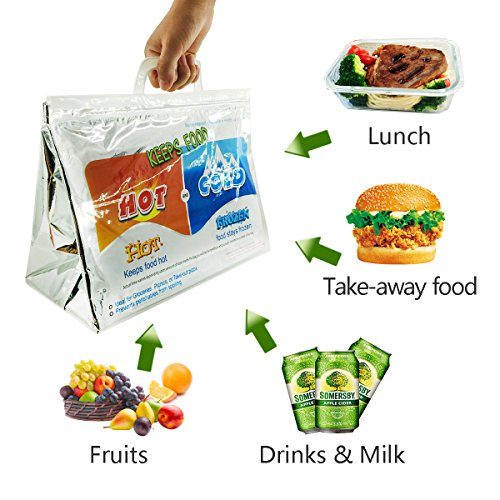 bfee1ac49 Reusable Thermal Insulated Bag (hot/Cold) Food Storage & Carry Bags Lunch  Bags