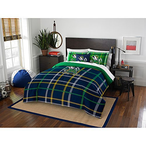 Northwest COL 836 2 Shams Notre Dame Fighting Irish NCAA Full Comforter Set (Soft & Cozy) (76