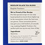 Bigelow English Teatime Tea 20 Bags (Pack of 6), 120 Tea Bags Total.  Caffeinated Individual Black Tea Bags, for Hot Tea or Iced Tea, Drink Plain or Sweetened with Honey or Sugar 11 TEA TIME ANY TIME: Start your morning with English Teatime (it's a great coffee substitute) or add a little honey splash of milk and a book on the side for the perfect cozy tea time treat. With a flavor so rich and robust one cup may not be enough INDIVIDUALLY WRAPPED: Bigelow tea always come individually wrapped in foil pouches for peak flavor, freshness, and aroma to enjoy everywhere you go! Non GMO Verified, Gluten -free, calorie-free, & Kosher certified; Bigelow tea delivers on all the health benefits of tea. TRY EVERY FLAVOR: There's a Bigelow Tea for every mood and every time of day. Rise and shine with English Breakfast, smooth out the day with Vanilla Chai, get an antioxidant boost from Green Tea, or relax & restore with one of our variety of herbal teas.