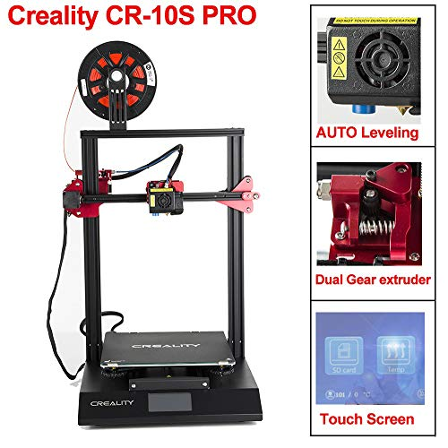 CCTREE Creality CR-10S Pro with Upgraded Auto-Level, Touch Screen, Capricorn PTFE,Bondtech Extruder...