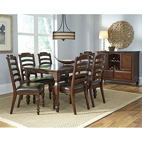 A-America Phinney Ridge 8 Piece Extendable Dining Set in Brown