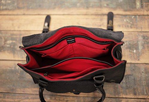LE RIVE GAUCHE M Noir sac bandoulière cuir style vintage PAUL MARIUS