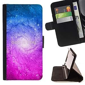 BullDog Case - FOR/HTC Desire 820 / - / GOD IS REAL /- Monedero de cuero de la PU Llevar cubierta de la caja con el ID Credit Card Slots Flip funda de cuer