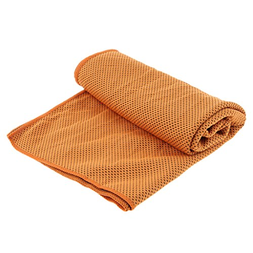 Baoblaze Instant Bandana Quick Towel Neck Cooling for Wrap Relief Headband Headband Neck Fitness Scarf Sports Cooling Orange Cool Multiuse Towel Yoga w0rIq0nU