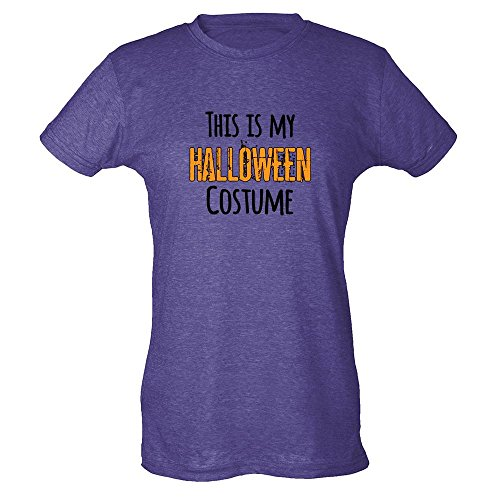 [This Is My Halloween Costume Heather Purple L Womens T-Shirt by Pop Threads] (1980's Costume Party City)
