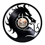 Mortal Kombat Vinyl Record Wall Clock – Play Room wall decor – Gift ideas for teens, boys, brother – Game Unique Art Design Review