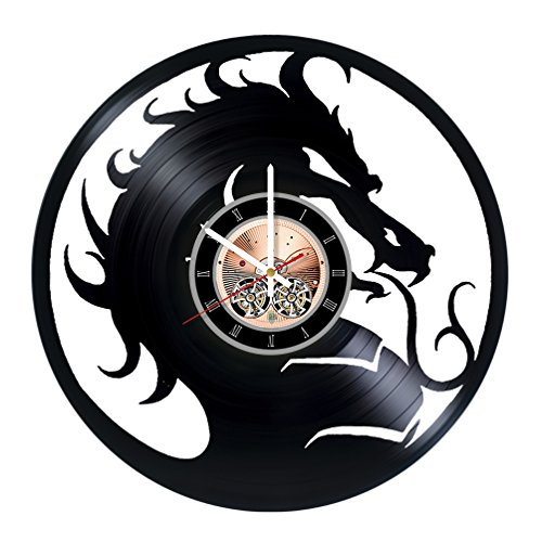 Mortal Kombat Vinyl Record Wall Clock - Play Room wall decor - Gift ideas for teens, boys, brother - Game Unique Art Design -