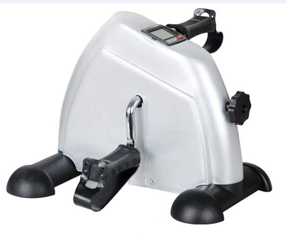 DDPP Mini Attrezzo Ginnico per Pedalatore, Portatile Leggero con Due Pedali E Pedale per Allenatore con Display LCD Digitale,White 42031