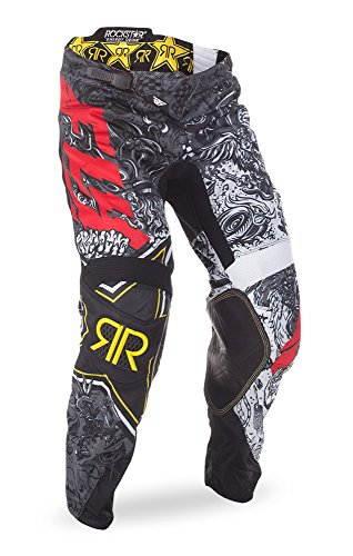 Fly Racing Unisex-Adult Kinetic Rockstar Mesh Pants (Black/White, Size 32)