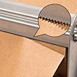 """Wrapping Paper Roll Cutter - Holder & Dispenser for Butcher Freezer Craft Paper Rolls 24"""" - Non-Slip Cutting Tool with Serrated Blade for Christmas Gift Wrap - Wall Mount or Tabletop"""