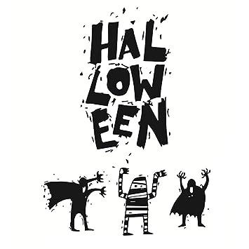 JUNMAONO Halloween Wandaufkleber/Wandgemälde/Wand Poster/Wandbild ...