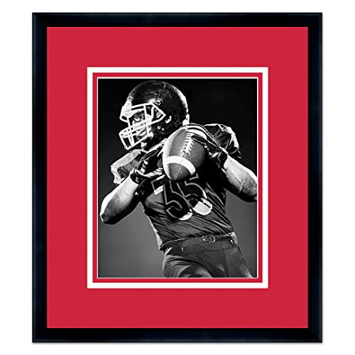 (Sports Frames University of Maryland Black Wood Frame with Terrapins Triple Mat Colors - Made to Display 5