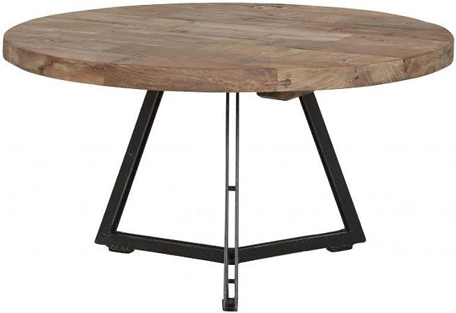 Passion Teck Industrielle métal Table Ronde et Basse Meuble xedBoC