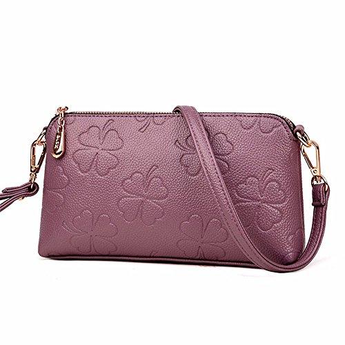 épaule de cuir doux couleur sac mode commercial 14 23 Violet 4 centre coursier bronze embrayage cm match sac nouveau le mme CxqFnqt