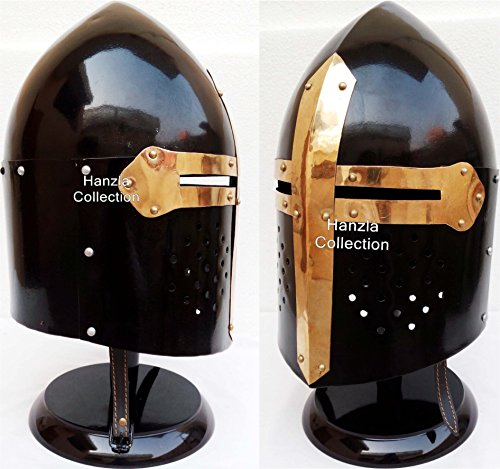 Medieval Knight Ancient Armor Roman Helmet Collectible SugarLoaf Spartan Helmet with Stand