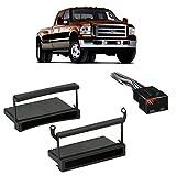 Fits Ford F-250/350/450/550/650/750 99-04 Single DIN Harness Radio Dash Kit