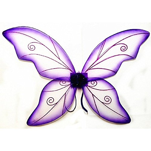 [Women's Wild Fairy Wings Costume (Purple)] (Tinkerbell Fairy Costumes For Women)