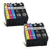 Ouguan Ink Remanufactured T802 Ink Cartridge 4 Pack for WorkForce Pro WF-4720 WF-4730 WF-4734 WF-4740 Printers (4 Black, 2 Magenta, 2 Cyan, 2 Yellow 10PK)