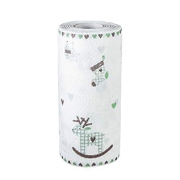 Tianya- Herramienta de cocina Hoja desechable que absorbe aceite Toalla de papel Limpia y duradera Protección de manos lavable Para plato/vidrio/Escritorio: ...