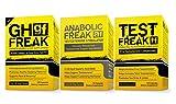 (1) PHARMAFREAK Test Freak Testosterone Booster (1) PHARMAFREAK Anabolic Freak Testosterone Booster and (1) GH Freak -