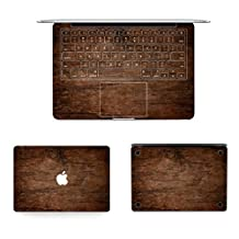 "Decalshut wood pattern full macbook decal stickers Vinyl full body keyboard and buttom protective skin Stickers for apple macbook decals (MacBook Pro 13.3"" inch (A1278), Wood 12)"