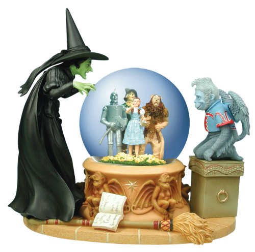 Wicked Witch Peering at Foursome Collectible Musical Water Globe from Westland Giftware