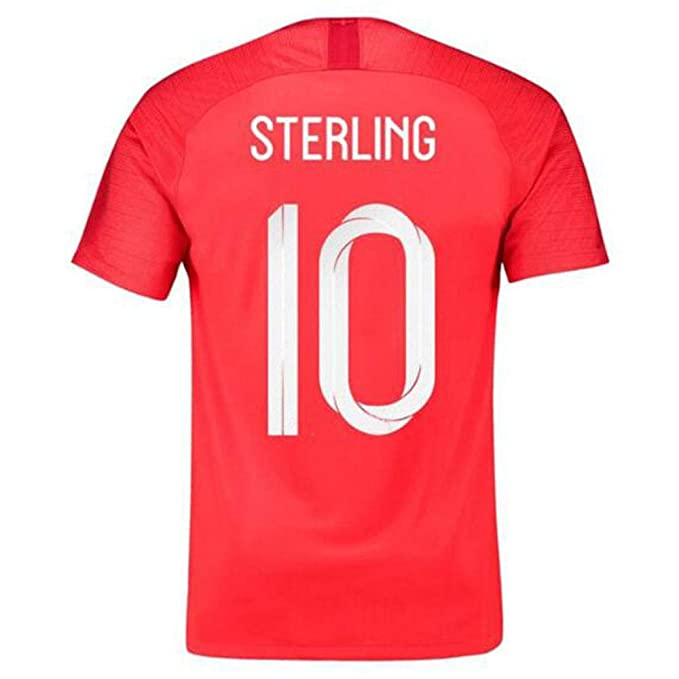 low priced 7f719 3a399 HJM Raheem Sterling #10 England National Football Team Men's ...