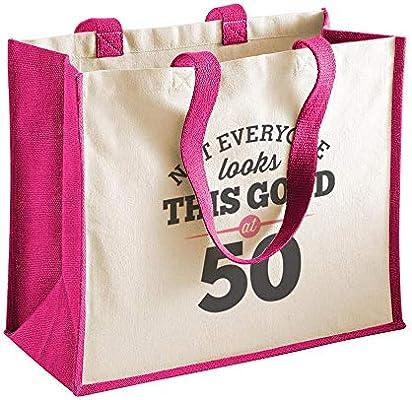 Bolsa de lona de algodón de 50 cumpleaños - Para mujer ...