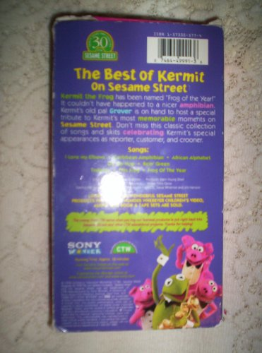 sesame street the best of kermit on sesame street vhs. Black Bedroom Furniture Sets. Home Design Ideas