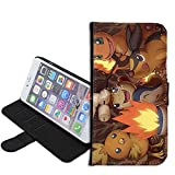 iPhone SE Case, iPhone 5s 5 Case, Pokemon Charmander & Torchic PU Leather Folio Flip Wallet Case Cover with ID Credit Card Holder with Stand for iPhone 5s/5/SE + Thewart_Eight® Stylus Pen (#111)