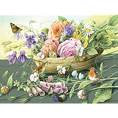 Ceaco 2236-10 Marjolein Bastin Florabunda Puzzle - 300Piece: Toys & Games