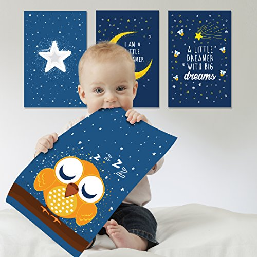 Curious Goodies Baby Room Decoration - Wall Decor for Kids. Baby Nursery Art, Animal Posters for Babies and Toddlers. Gifts for mom, Pregnancy Gift, Baby Keepsakes, Wall Decor for Girls and Boys.