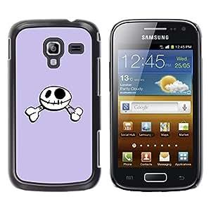 Be Good Phone Accessory // Dura Cáscara cubierta Protectora Caso Carcasa Funda de Protección para Samsung Galaxy Ace 2 I8160 Ace II X S7560M // Funny Happy Skull Smiley