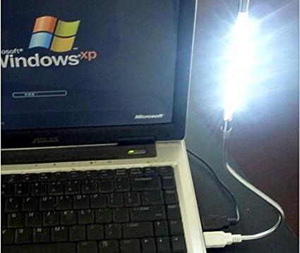 Golden DZYDZR Portable USB Lampada LED Dimmerabile USB 5V 1W Touch Switch Flessibile 10 LEDs Bianco Lampada per Computer Portatile PC