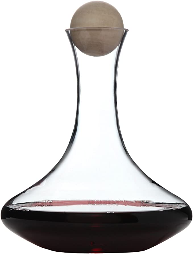Classic Glass Wine Decanter with Wooden Ball Stopper and Decanter Dryer Stand By Lilys Home Lily/'s Home SW307