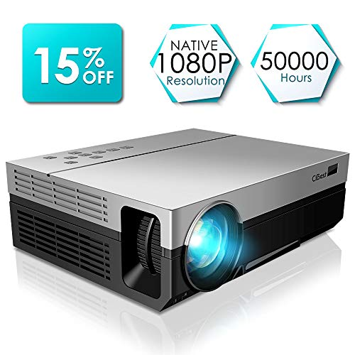 Projector, CiBest Full HD Native 1080P Video Projector 3600 lm Luminous Flux Led WSUVGA Movie...