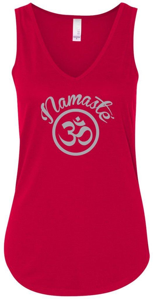 Yoga Clothing For You Ladies Namaste OM Flowy Tank Top 8805-NAMOM