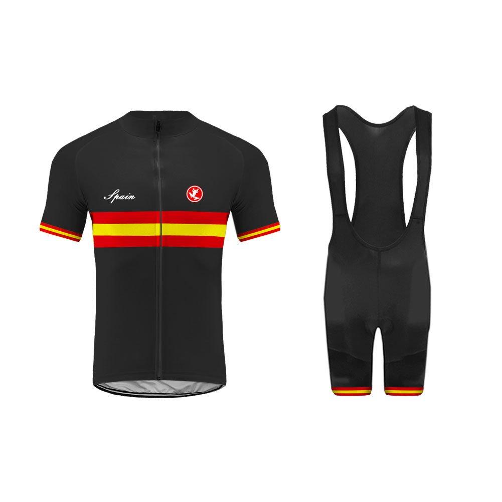 Uglyfrog Nationalmannschaft Radtrikot Sommer Herren Radsport Kurzarm Cycling Jersey und Anzüge + Trägerhosen Sport Bekleidung Kit GQZ04F