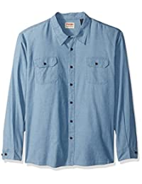 Wrangler mens big-tall Authentics Big & Tall Long Sleeve Classic Woven Shirt