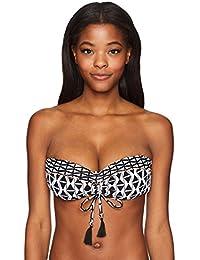Women's Modern Geometry Dd Cup Bandeau Bikini Top