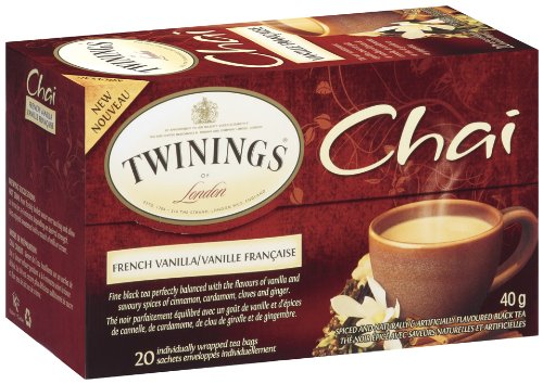 Twinings of London Chai French Vanilla Tea, 20 Count (Pack of 6)