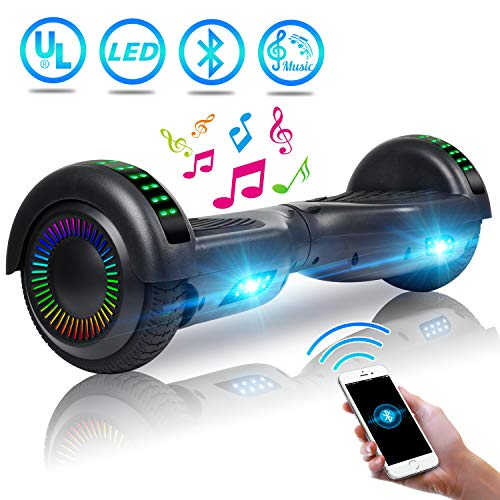 UNI-SUN 6.5″ Bluetooth Hoverboard for Kids, Self Balancing Hoverboard with Bluetooth and LED Lights for Adults, UL 2272 Certified Hover Board