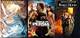 Mystical lands Prince of Persia - Clash of the Titans Original & Robin Hood Prince of Thieves 3 Film Action and Adventure Epic DVD Movie Pack Bundle