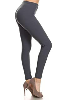 08223fee7dc Leggings Depot High Waisted Leggings -Soft   Slim - Solid Colors ...